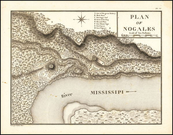 63-Mississippi Map By Victor George Henri Collot