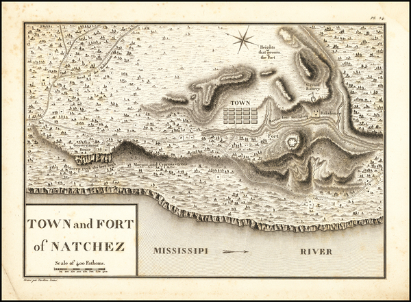 74-Mississippi Map By Victor George Henri Collot