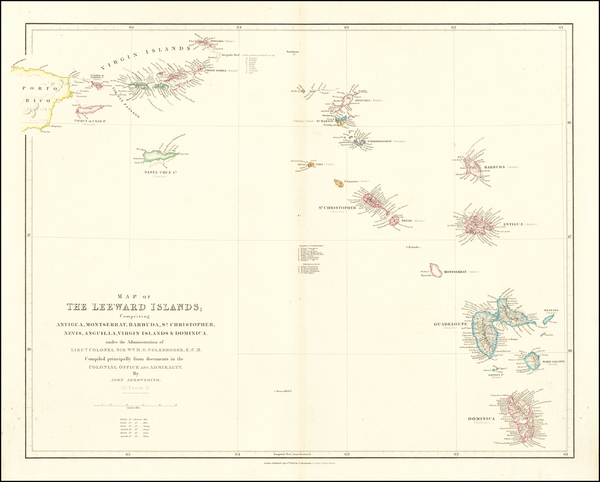 15-Virgin Islands and Other Islands Map By John Arrowsmith