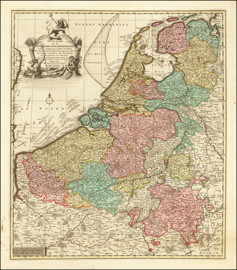 36-Netherlands Map By Reiner & Joshua Ottens