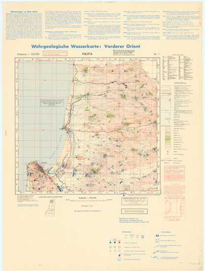 22-Holy Land and World War II Map By General Staff of the German Army