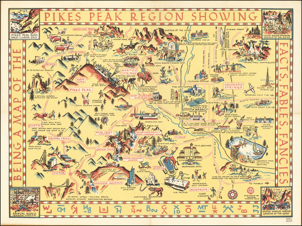 Colorado, Colorado and Pictorial Maps Map By George Vander Sluis