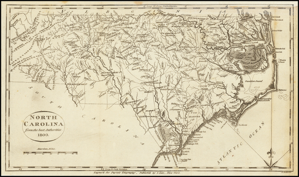 North Carolina Map By John Payne