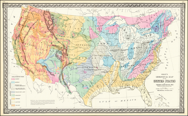 13-United States and Geological Map By O.W. Gray & Son