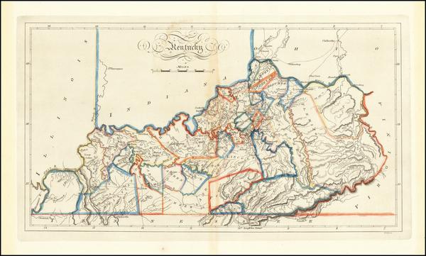 Kentucky Map By Matthew Carey