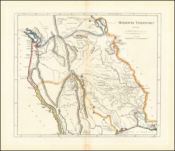 23-Texas, Plains, Missouri, Southwest, Rocky Mountains, Pacific Northwest and California Map By Ma