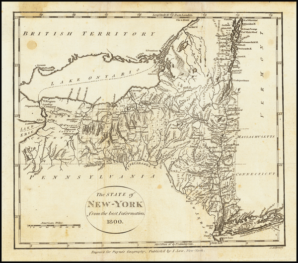 67-New York State Map By John Payne