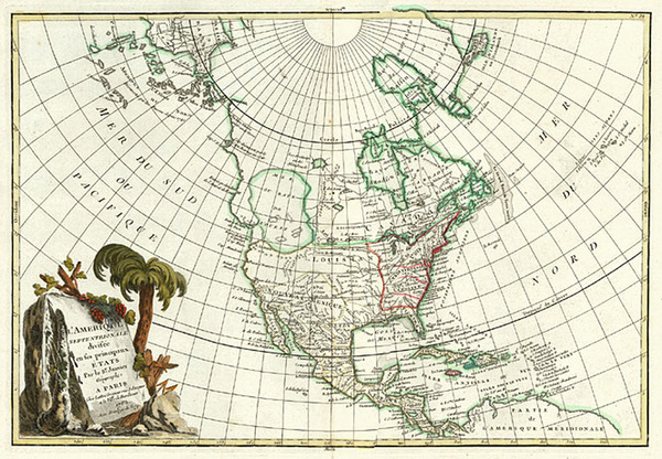 19-Alaska, North America and Canada Map By Jean Janvier