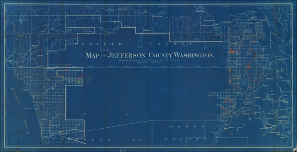 74-Washington Map By Washington Map and Blue Print Co.