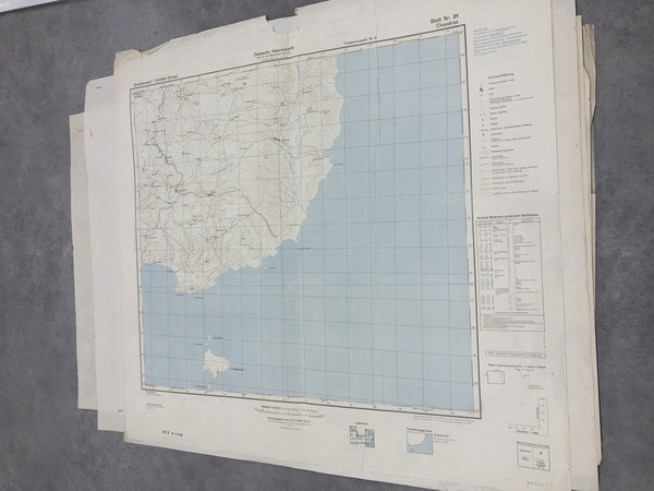 99-Greece and World War II Map By General Staff of the German Army
