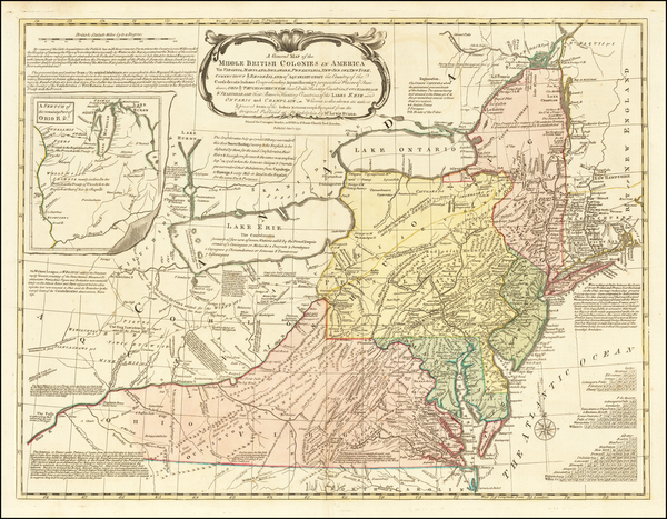 90-United States, Mid-Atlantic and Midwest Map By Lewis Evans / John Bowles