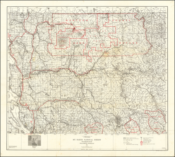 43-Washington Map By U.S. Department of Agriculture