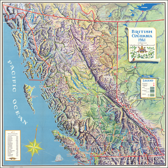 34-Canada and British Columbia Map By Howard N. Davis