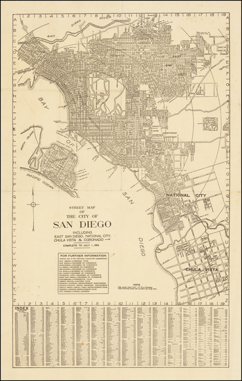 50-San Diego Map By Rodney Stokes