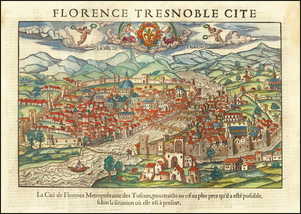92-Other Italian Cities Map By Francois De Belleforest
