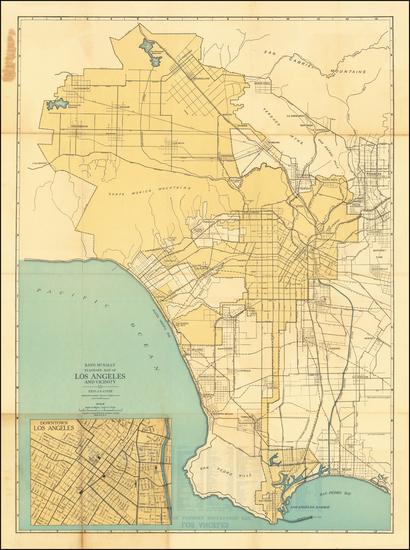 76-Los Angeles Map By Rand McNally & Company
