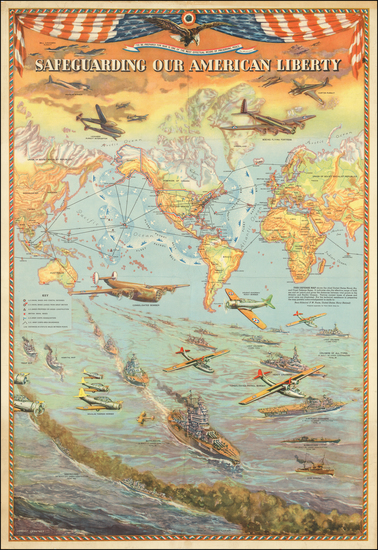 63-World and Pictorial Maps Map By Lambert  Guenther