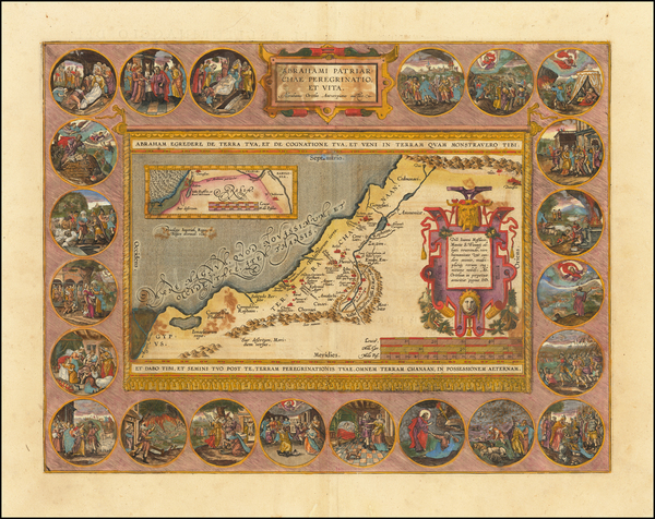 43-Holy Land Map By Abraham Ortelius