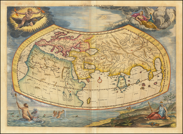 76-World Map By  Gerard Mercator