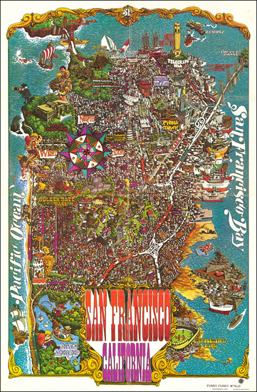 82-Pictorial Maps and San Francisco Map By Henry HInton