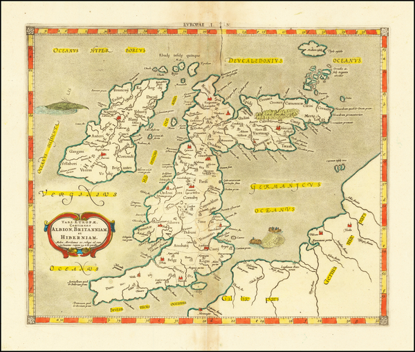29-British Isles Map By  Gerard Mercator