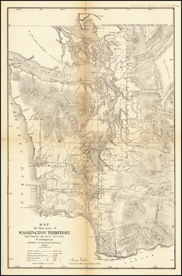 80-Washington Map By U.S. General Land Office