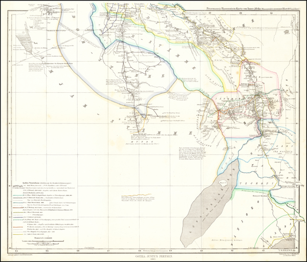 60-East Africa Map By Augustus Herman Petermann