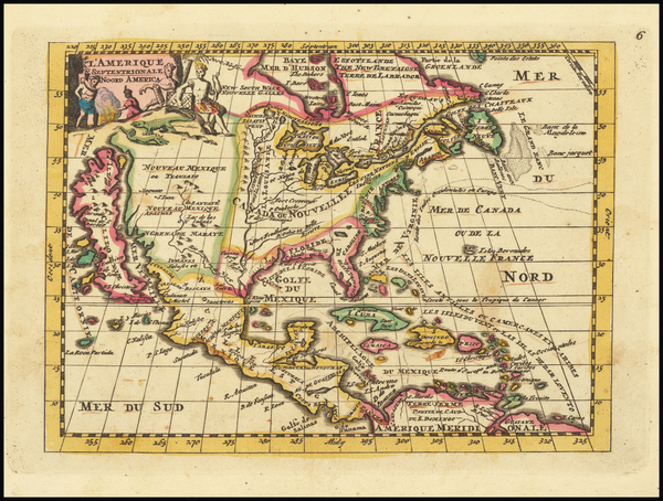 32-North America and California as an Island Map By Daniel de La Feuille