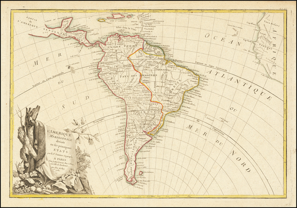 65-South America Map By Jean Janvier