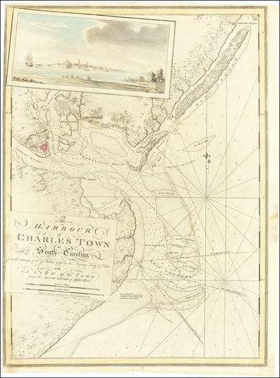 44-Southeast, South Carolina and American Revolution Map By Joseph Frederick Wallet Des Barres
