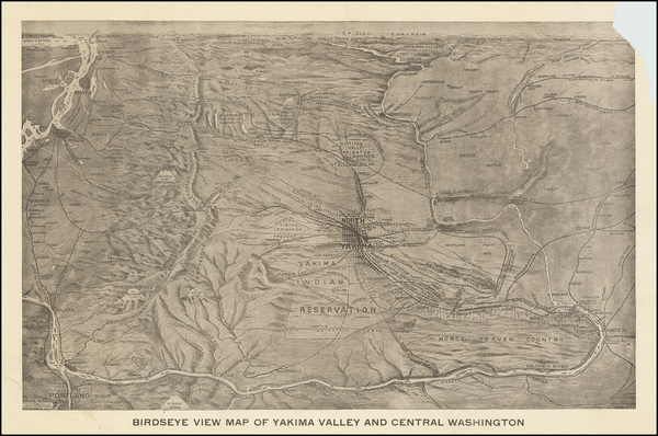 75-Washington Map By Edward Lange