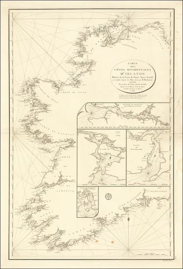 47-Ireland Map By Depot de la Marine