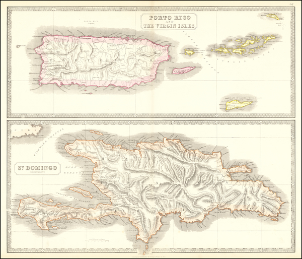 90-Hispaniola, Puerto Rico and Virgin Islands Map By George Philip & Son
