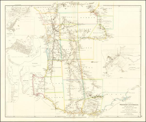19-Australia Map By John Arrowsmith