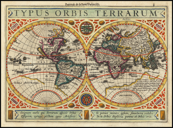 35-World Map By Henricus Hondius / Jan Jansson