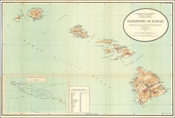 70-Hawaii and Hawaii Map By U.S. General Land Office