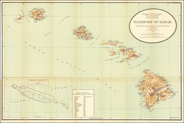 93-Hawaii and Hawaii Map By U.S. General Land Office