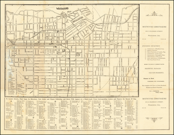71-Other California Cities Map By W.A. Hagans