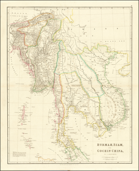 90-Southeast Asia, Malaysia and Thailand Map By John Arrowsmith