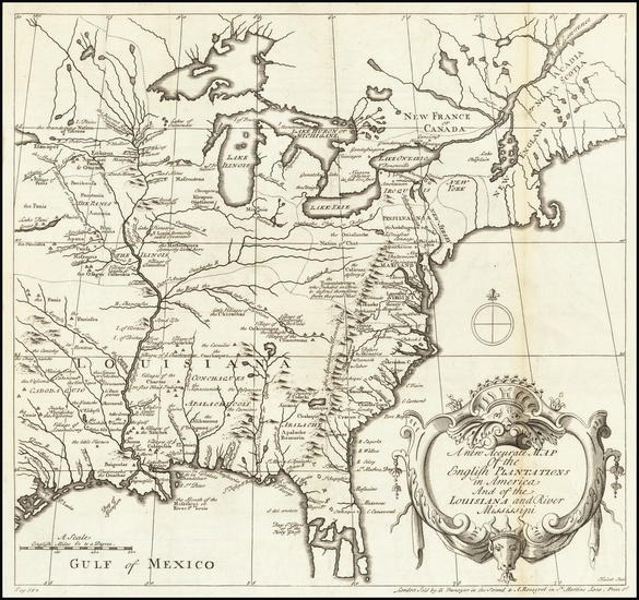 75-North America Map By J. Hulett / Abel Boyer