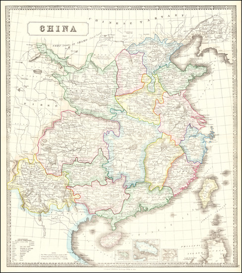 43-China and Hong Kong Map By George Philip & Son