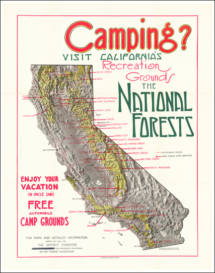 44-Pictorial Maps and California Map By United States GPO