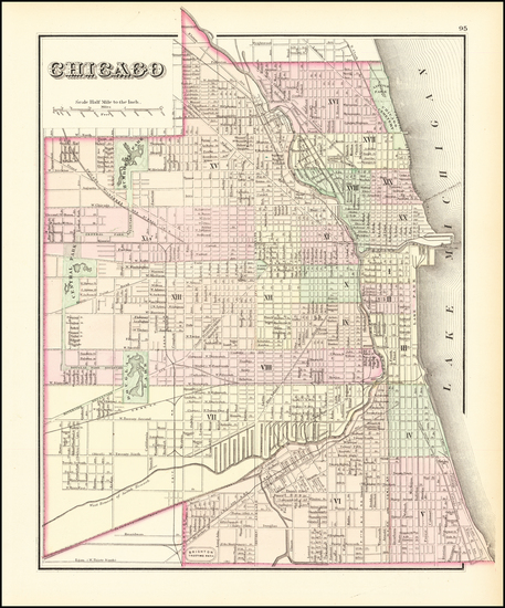 54-Illinois and Chicago Map By O.W. Gray