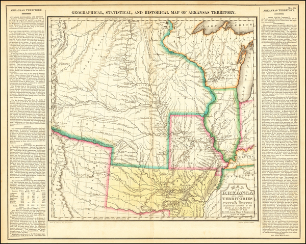 73-Arkansas, Texas, Midwest, Plains, Missouri, Southwest and Rocky Mountains Map By Henry Charles