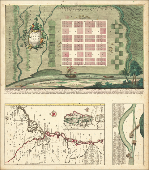 48-Southeast and Georgia Map By Matthaus Seutter