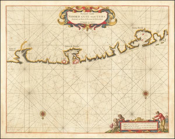 98-Cuba Map By Arent Roggeveen / Jacobus Robijn
