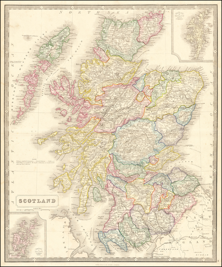 21-Scotland Map By George Philip & Son