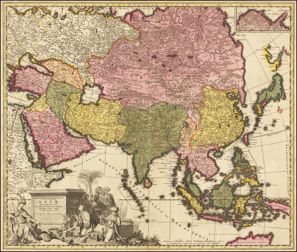 16-Asia Map By Carel Allard