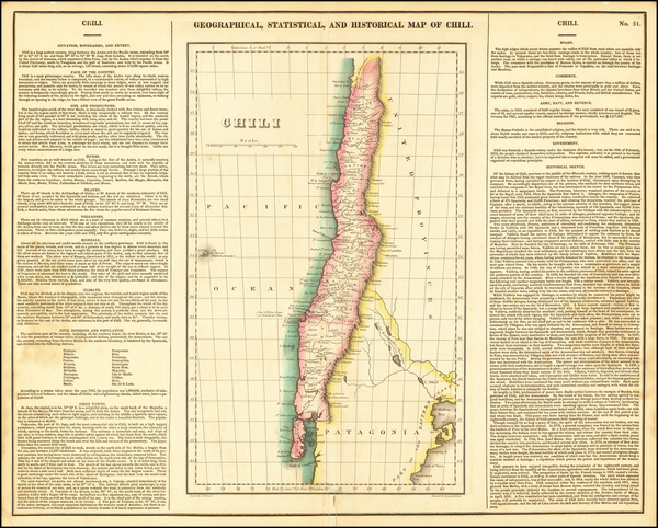 83-Chile Map By Henry Charles Carey  &  Isaac Lea