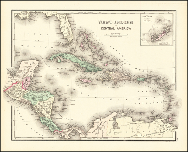15-Caribbean and Bermuda Map By OW Gray